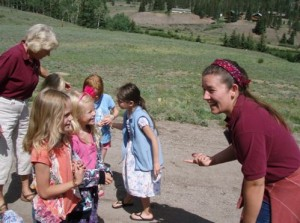 Aimee teaching at Family Camp